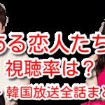 欠点ある恋人たち 視聴率 日本 韓国 放送 全話