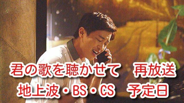 君の歌を聴かせて 再放送 予定日 いつ テレビ地上波 BS CS